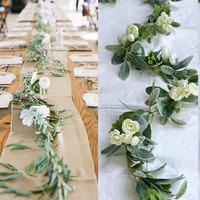 Garland Wedding Garland Greenery Garland Lambs ear  Garland Artificial  Eucalyptus Garland Wedding Mixed Greens Garland lambs ear wedding