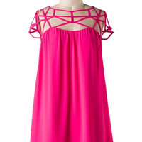 Strappy Hour Cocktail Dress - Pink Berry