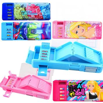 Creative multi - function multi - layer stationery box girl student lovely pencil case