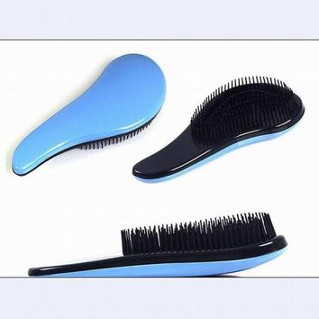 Fashion anti-static massage hair brush plastic detangle comb for hairdressing as hair care styling tool in salon drop ship