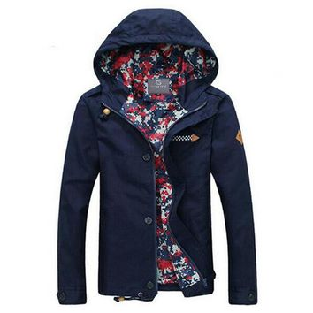 Men Jacket With Hood Fashion Jacket Casual