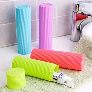 Useful Portable Simple Corrugated Travel Toothbrush Dental Equipment Storage Box for Toiletries Stationery Storage