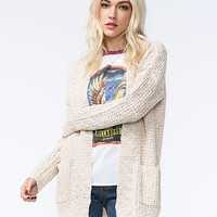 Full Tilt Essential Womens Cardigan Oatmeal  In Sizes