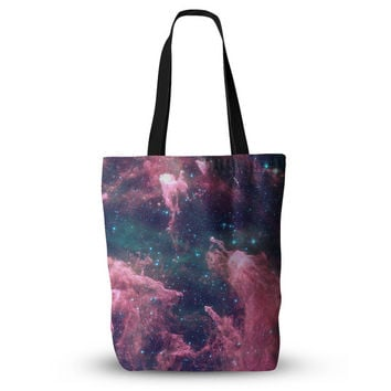 """Cotton Candy Space Galaxy Cloud Print Unique Mom Grocery Diaper Beach Tote Bag 18""""x18"""""""
