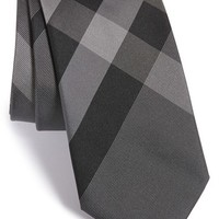 Men's Burberry London 'Manston' Woven Silk Tie - Grey