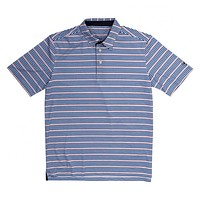 Performance Polo in Navy/Flamingo Stripe by Southern Proper - FINAL SALE