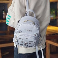 2017 new fashion cartoon leather women small backpack cute School Bags For Teenager Girls vintage ladies mini backpack sac a dos