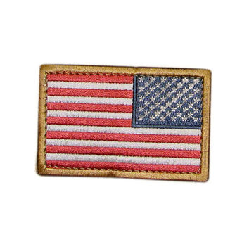 US Flag Patch Reverse Color- RWB (6 Pack)