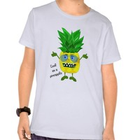 Cute monster pineapple illustration t-shirt
