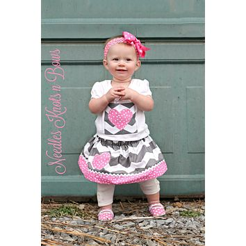 Girls Valentines Day Outfit, Girls Valentines Day Skirt Outfit, Baby Girls Valentines Outfit