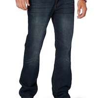 Baked Dark Wash Relaxed Straight Jean