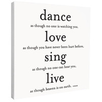 Dance, Love, Sing Canvas