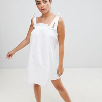 Fashion Union Sun Dress With Tie Shoulders at asos.com