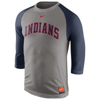 Nike Cleveland Indians Cooperstown Raglan Tee