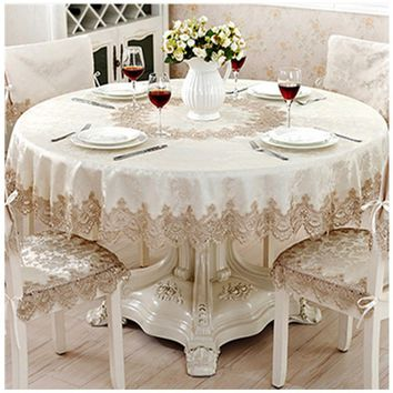 Round tablecloths   jacquard satin cloth home furnishings   home hotel gabe  europe lace tablecloth