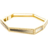 Maiyet 18K Gold And Champagne Diamond Bangle