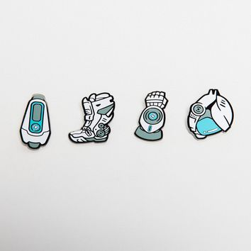 Lazer Team Champions of Earth Enamel Pin Pack