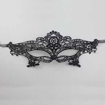 Black Lace Floral Eye Mask Venetian Masquerade Fancy Prom Mysterious Party Karneval Mask
