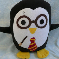 Plush Wizarding Penguin Pillow Pal PLACE YOUR by AnitaKleinDesigns