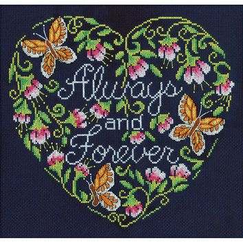 "Always And Forever Counted Cross Stitch Kit 10""X10"" 14 Count"