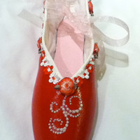 Sweet Romance .... Decorated Pointe Shoe