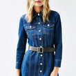 Silence + Noise Square Thin Buckle Belt - Urban Outfitters