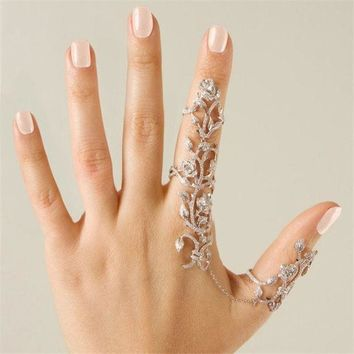womens rings multiple finger stack knuckle band crystal set womens fashion jewelry gift box 2