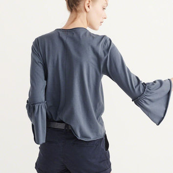 Womens Bell Sleeve Top | Womens Tops | Abercrombie.com