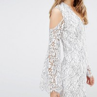 Keepsake Lace Dress with Cold Shoulder at asos.com
