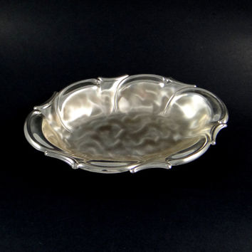 Vintage WMF Ikora Brushed Silver (EP Brass) Footed Serving Bowl