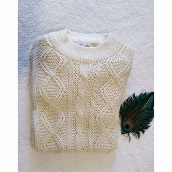 Men's Vintage B. Altman and Co. Fisherman Sweater