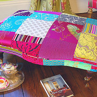 avignon patchwork footstool by couch gb | notonthehighstreet.com