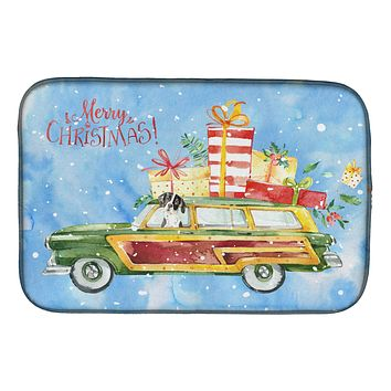 Merry Christmas English Pointer Dish Drying Mat CK2405DDM