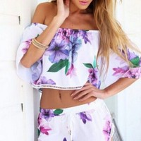 Two Piece Purple Paradise Set