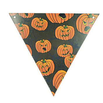 1 pcs Halloween Flags PE Halloween Festival Paper Bunting Pennant Banner Garland Outdoor Indoor Home Party Decoration