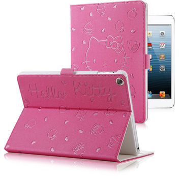 Cute Hello Kitty Stand Magnetic Smart Tablet Case Cover For Apple iPad Air 2 Ipad 6 Case Cover Girl Kids Gift Stylus Pen