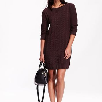 Old Navy Womens Cable Knit Sweater Dress