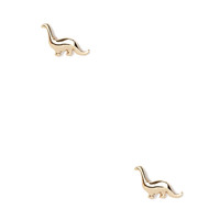 FOREVER 21 Dinosaur Studs Silver One