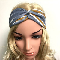 2016 fashion cross ribbon printing ladies Headband  Headbands  knot headwrap turban headband women hair accessories reta