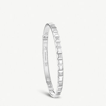BOUCHERON Quatre Clou de Paris 18ct white-gold and diamond bracelet