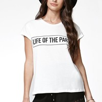MinkPink Life Of The Party T-Shirt - Womens Tee - White