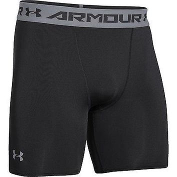 Under Armour Mens UA Sonic Heatgear Mid Compression Short - Black or White 6""