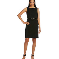 Calvin Klein Belted Popover Dress - Black