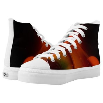 Fire Wave Printed Shoes