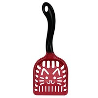 PET N PET Extra Durability Red Cat Litter Scoop With Cute Kitty Face