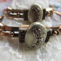 Antique Victorian Pair of Bangle Bracelets