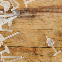 Clear Plastic Posts Studs with Ear Nuts Backs 50pcs Jewellery Findings Jewellery Making diyforstyle