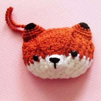 INSTANT DOWNLOAD -Kawaii Fox Wristlet Clutch - wallet - phone case - PDF crochet pattern