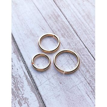 16g hoop ring, earring, Septum nose ring, 14k gold filled, belly navel body jewelry 8mm 10mm 12mm