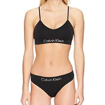 Calvin Klein Women's Horizon Seamless Bralette And Thong Set